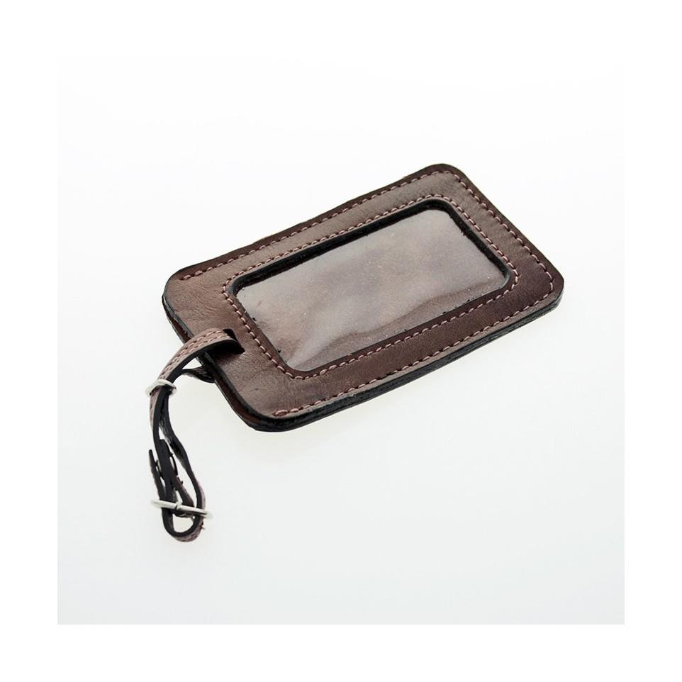 Marbete - Identificador de equipaje cuero