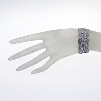 Craftwork silversmith.Hand-woven silver bracelet |El Boyero