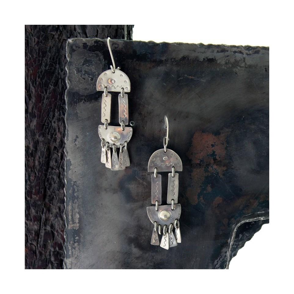 Aros de plata - diseño mapuche |El Boyero