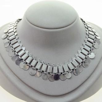 Gargantilla plata | Diseño mapuche |El Boyero