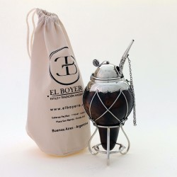 Mate with nickel silver cover and mate straw |El Boyero