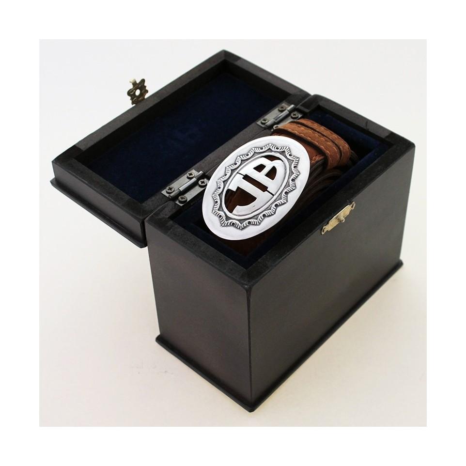 Hebilla calada con caja y lonja