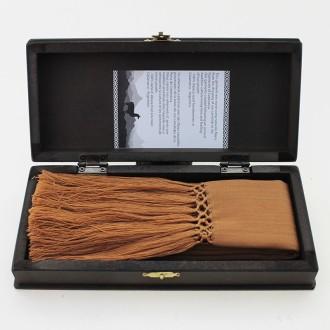 Chalina de alpaca tejida al telar con caja de madera |El Boyero