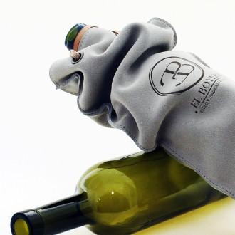 Bolsa porta botella de vino de cuero