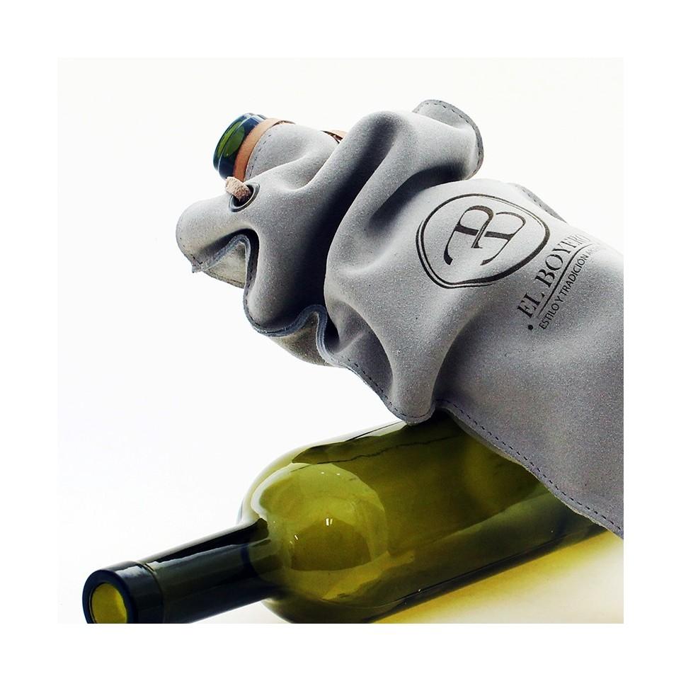 Bolsa de cuero para botella de vino