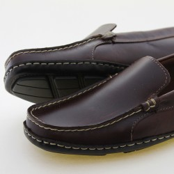 Waxed cow leather men's loafers |El Boyero