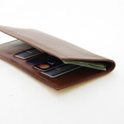 Cow leather travel organizer wallet