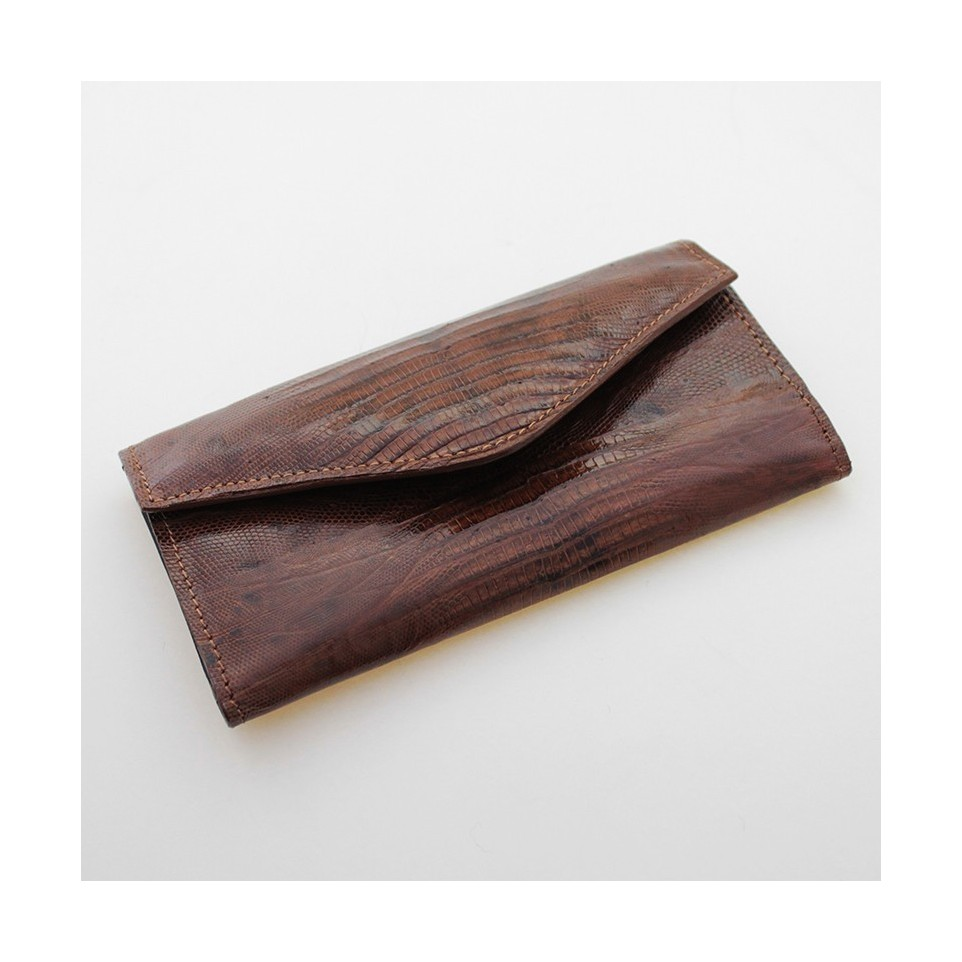 Lizard leather womens wallet