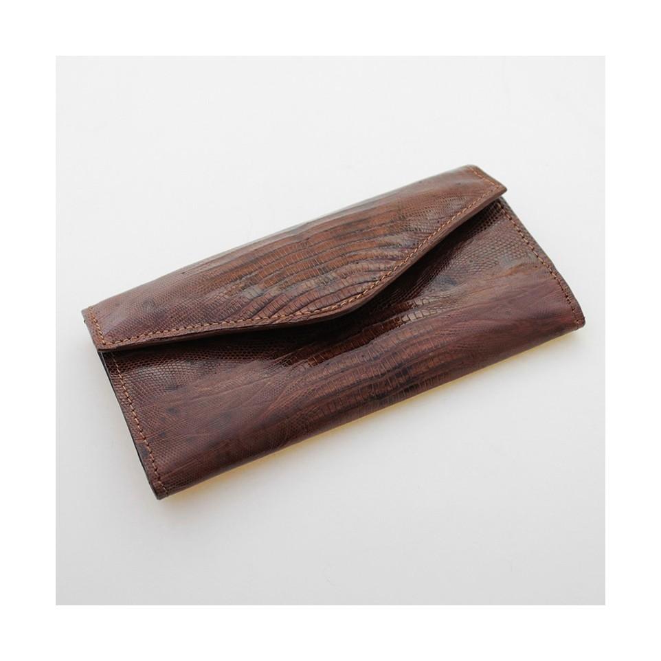 Lizard leather womens wallet