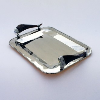 Rectangular nickel silver tray