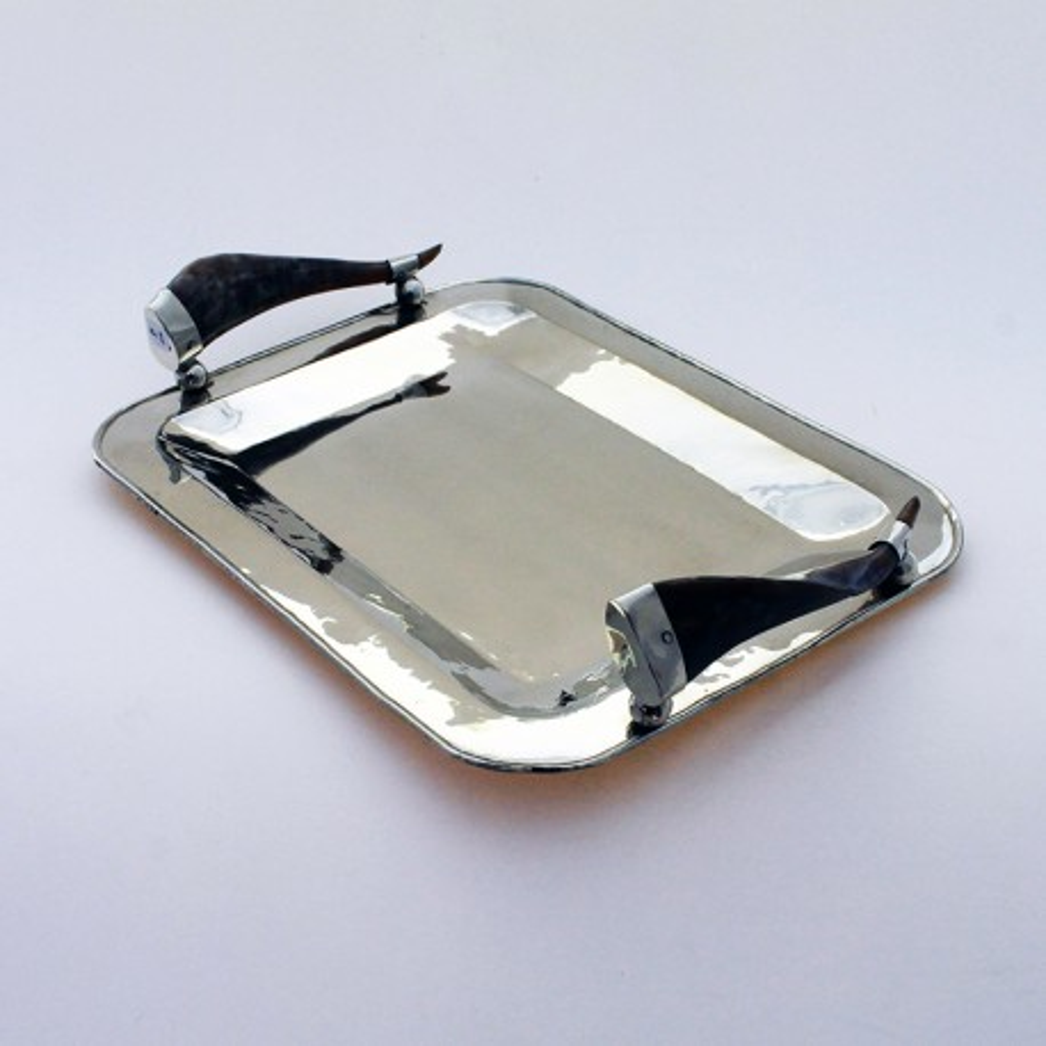 Rectangular nickel silver tray