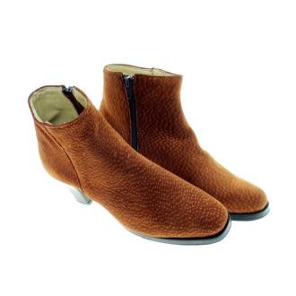 Capybara leather heeled ankle boots |El Boyero