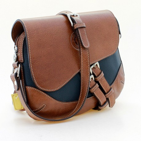 Saddle crossbody bag with buckles |El Boyero