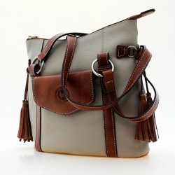 Leather bag with fringe saddler style |El Boyero