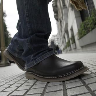 Men's leather short boots with elastic |El Boyero