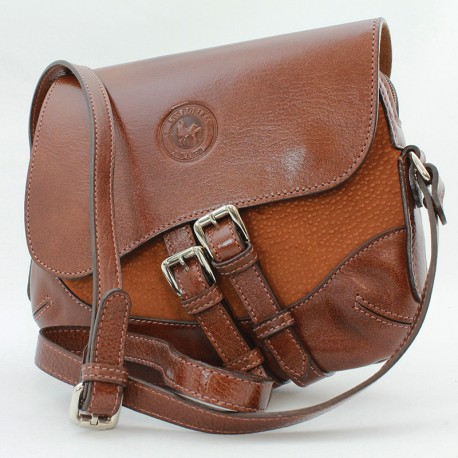 Saddle crossbody bag brown leather |El Boyero