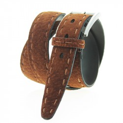 Handstitched top Carpincho leather belt
