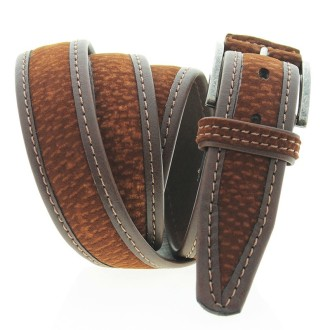 Overlapped Carpincho leather belt