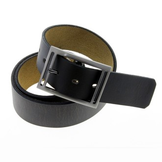 Plain flat leather belt