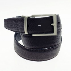 Reversible textured leather belt |El Boyero