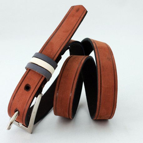 Cow leather womens belt