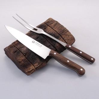 Juego de cuchillo y tenedor para parrilla. Set Premium |El Boyero