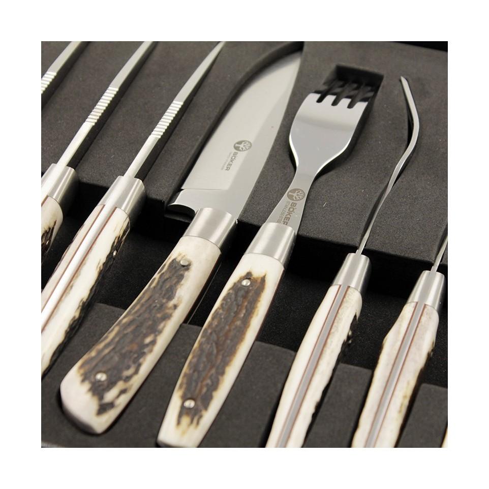 Set cuchillo y tenedor por 6 en caja| El Boyero