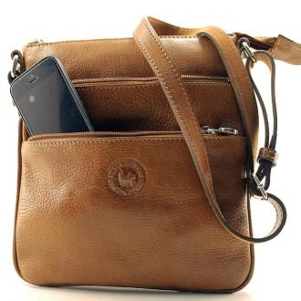 Morral de cuero con bolsillos |El Boyero