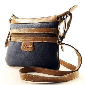 Cow leather flat crossbody purse