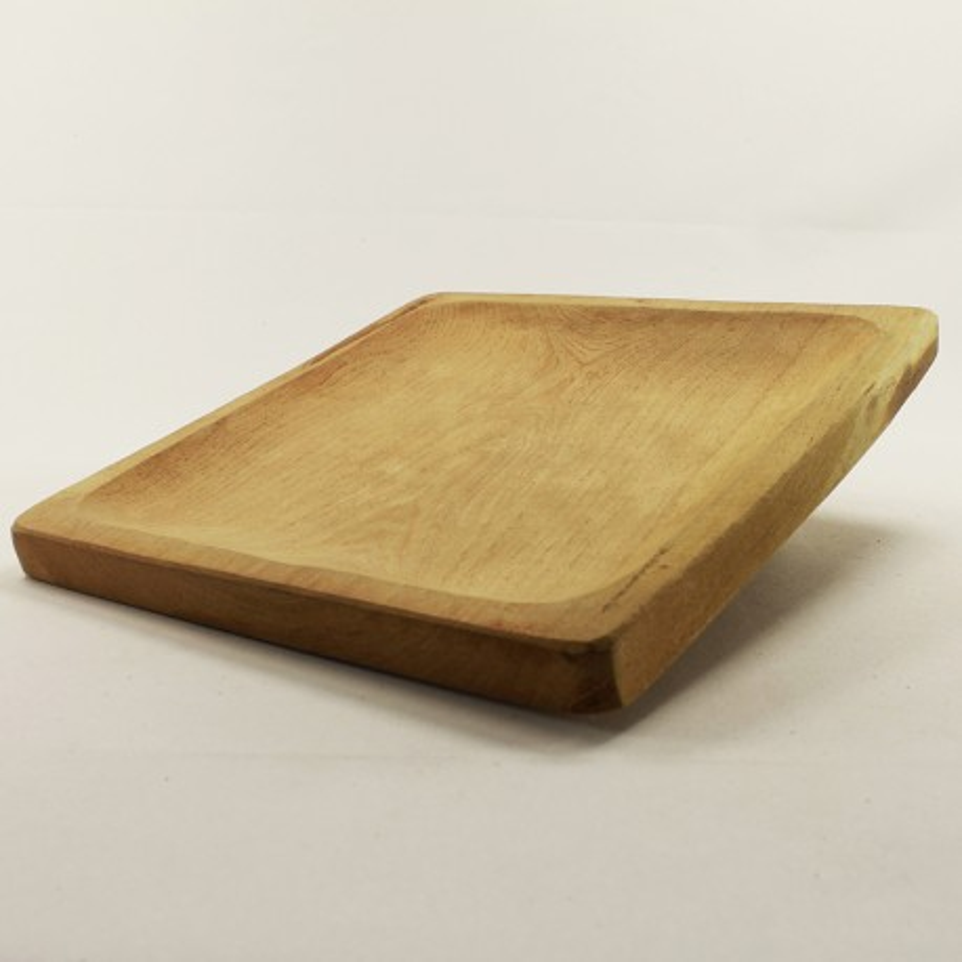 Plato cuadrado de madera |El Boyero