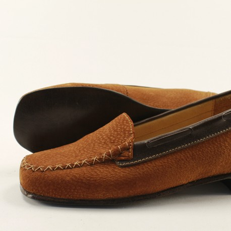 Capybara leather lady loafers