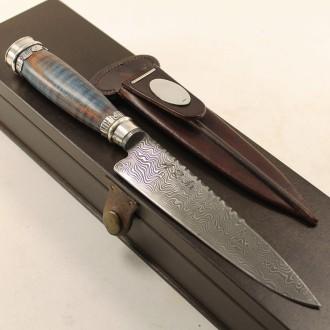 Picazo knife of braided raw leather |El Boyero
